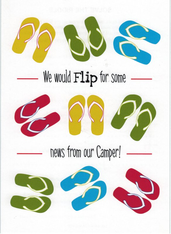 827b5e873 Greeting Card FLIP FLOP - ITEM  GC35
