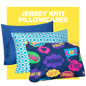 Jersey Knit Pillow Cases