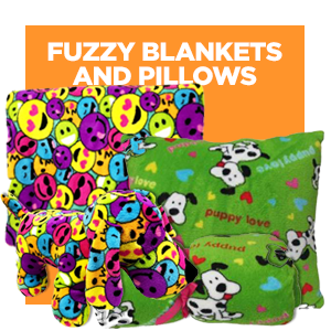 Fuzzy Blankets & Pillows