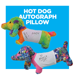 Hot Dog Autograph Pillow
